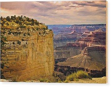 Maricopa Point Grand Canyon Wood Print by Bob and Nadine Johnston