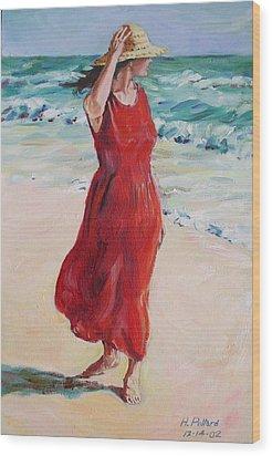 Mariela On Bonita Beach Wood Print