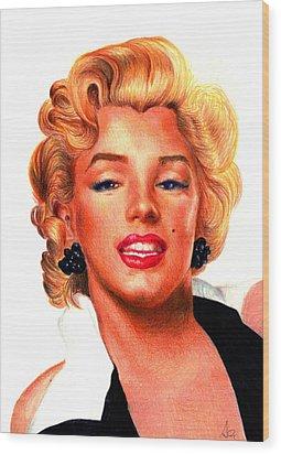 Marilyn Wood Print by Alessandro Della Pietra