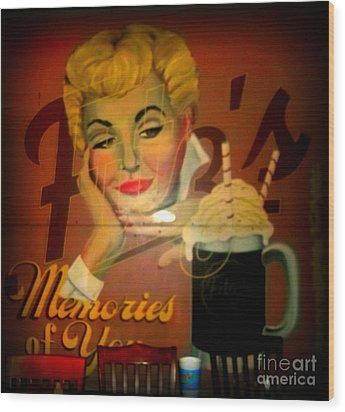 Marilyn And Fitz's Wood Print by Kelly Awad
