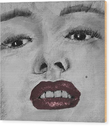 Marilyn Wood Print by David Patterson