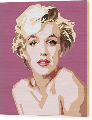 Marilyn Wood Print by Douglas Simonson