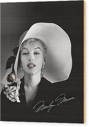 Marilyn Wood Print by Gary Baird