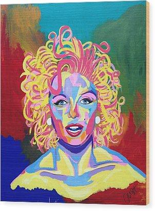 Marilyn  Wood Print