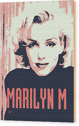 Marilyn M Wood Print by Chungkong Art
