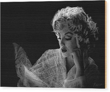 Marilyn Wood Print by Marina Likholat