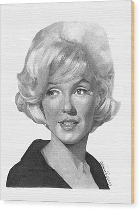 Marilyn Monroe - 015 Wood Print by Abbey Noelle