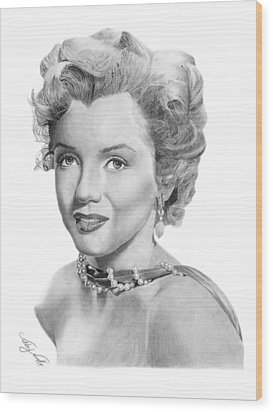 Marilyn Monroe - 016 Wood Print by Abbey Noelle