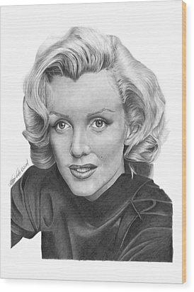 Marilyn Monroe - 025 Wood Print by Abbey Noelle