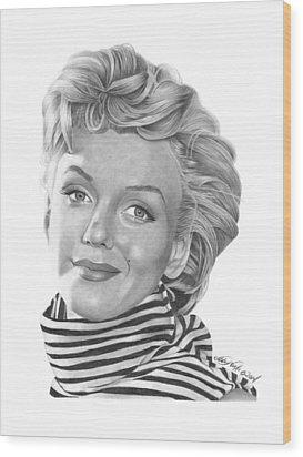 Marilyn Monroe - 029 Wood Print by Abbey Noelle