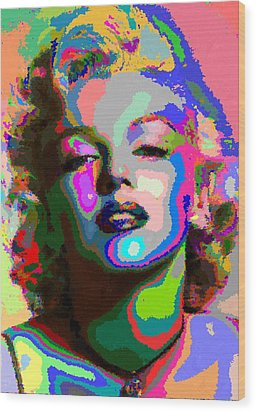 Marilyn Monroe - Abstract 1 Wood Print