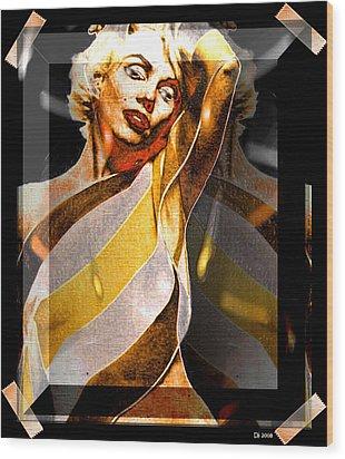 Wood Print featuring the digital art Marilyn Monroe by Daniel Janda