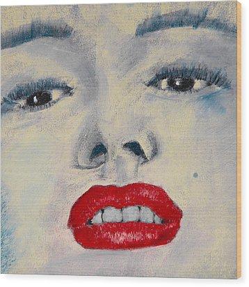 Marilyn Monroe Wood Print by David Patterson