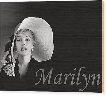 Marilyn Monroe Wood Print by Gary Baird