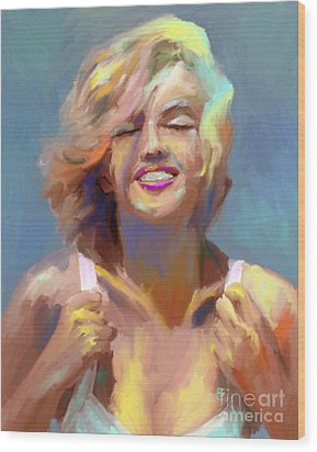 Marilyn Monroe Wood Print by GCannon