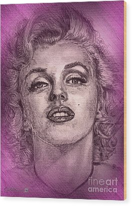 Marilyn Monroe In Pink Wood Print by J McCombie
