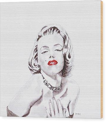 Marilyn Monroe Wood Print by Martin Howard