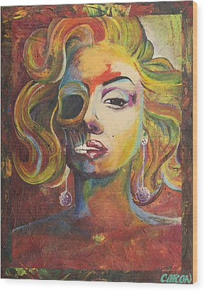 Marilyn Monroe Wood Print by Mike Caron