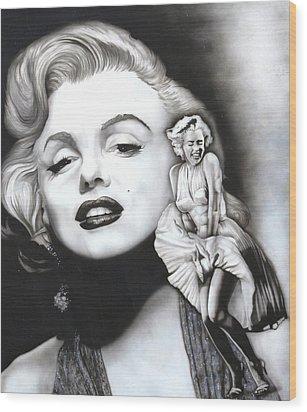 Marilyn Monroe Mural Wood Print
