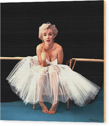 Marilyn Monroe Portrait Wood Print