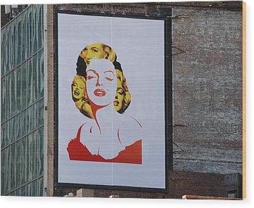 Marilyn Monroe Wood Print by Rob Hans