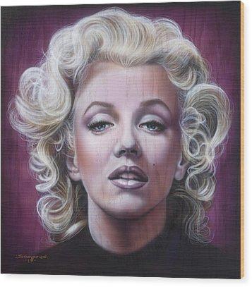 Marilyn Monroe Wood Print by Timothy Scoggins