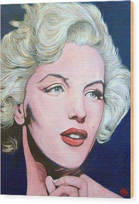 Marilyn Monroe Wood Print by Tom Roderick