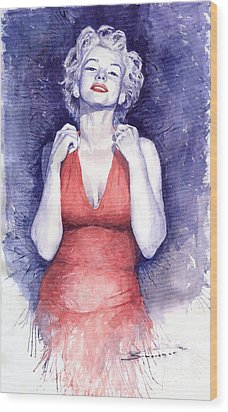 Marilyn Monroe Wood Print by Yuriy  Shevchuk