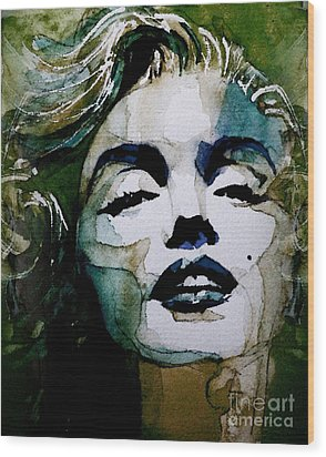 Marilyn No10 Wood Print by Paul Lovering