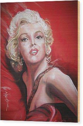 Marilyn Wood Print by Peter Suhocke