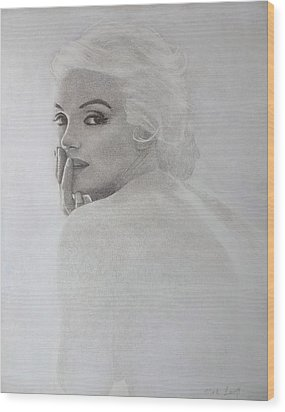 Marilyn Profile Wood Print
