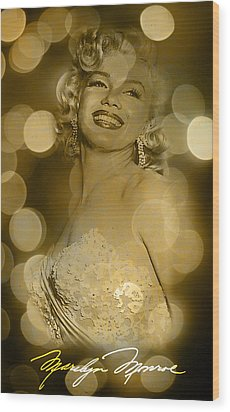 Marilyn Sparkles Wood Print