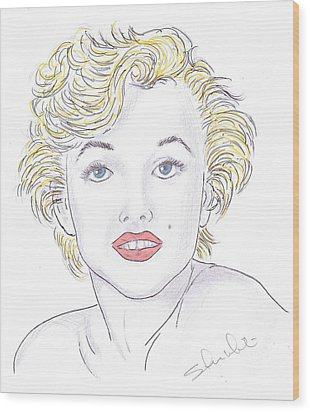 Marilyn Wood Print by Steven White