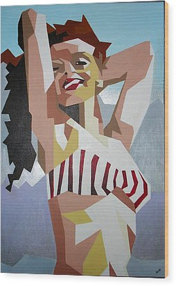 Marilyn Wood Print by Tracey Harrington-Simpson