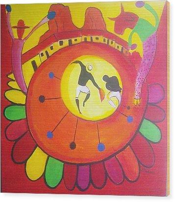 Marimbona Wood Print by Jose jackson Guadamuz guadamuz