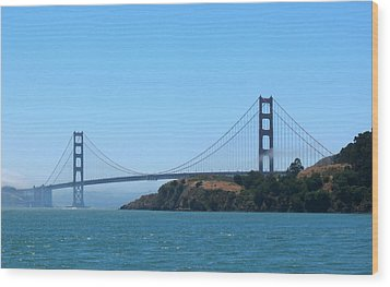 Marin County View Of The Golden Gate Bridge Wood Print