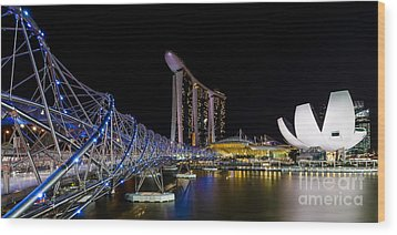 Marina Bay Sands Wood Print by Pete Reynolds