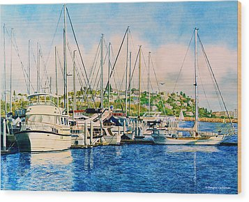 Marina Del Rey Afternoon Wood Print by Douglas Castleman
