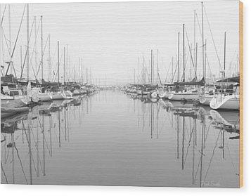 Wood Print featuring the photograph Marina - High Key by Heidi Smith