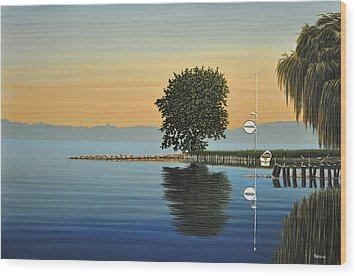 Marina Morning Wood Print by Kenneth M  Kirsch