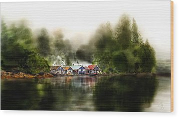 Marina Retreat Wood Print