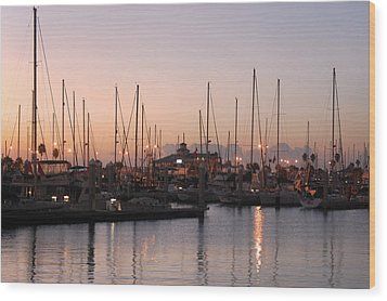 Marina Sunrise 12 Wood Print by Leticia Latocki