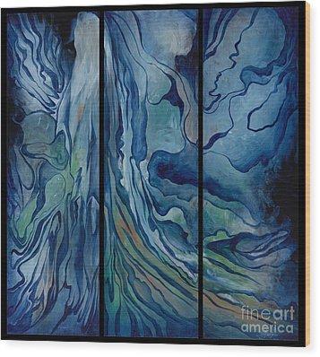 Marina Triptych Wood Print