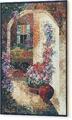 Marina's Garden Wood Print by Lenore Crawford