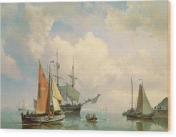 Marine  Wood Print by Johannes Hermanus Koekkoek