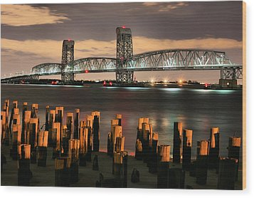 Marine Parkway Bridge Wood Print by JC Findley