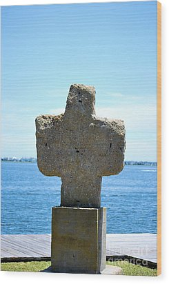 Wood Print featuring the photograph Mariners Cross by Bob Sample
