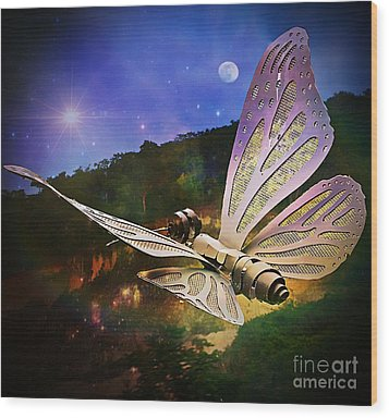 Mariposa Galactica Wood Print