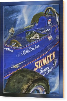 Mark Donohue 1972 Indy 500 Winning Car Wood Print