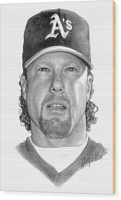 Mark Mcgwire Wood Print by Harry West